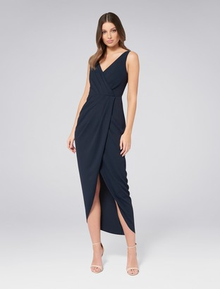 Forever New Victoria Wrap Dress - Navy - 4
