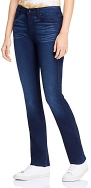 7 For All Mankind JEN7 by Slim Straight Jeans in Classic Midnight Blue