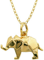 Lord & Taylor 18K Yellow Goldplated Sterling Silver Origami Elephant Pendant Necklace