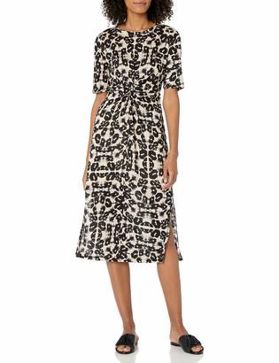 Rebecca Taylor Women's Short Sleeve Kaleidoscope Jersey Dress