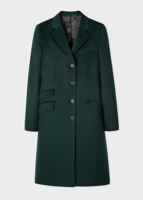 Paul Smith Women's Dark Green Four-Button Wool-Cashmere Epsom Coat