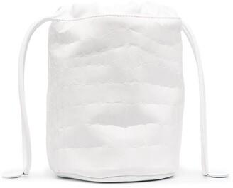 MM6 MAISON MARGIELA Embossed Crocodile-Effect Bucket Bag