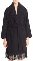 Alexander Wang Fringe Shawl Collar Blanket Coat