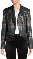 Yigal Azrouel Ivy Trellis Printed Leather Jacket