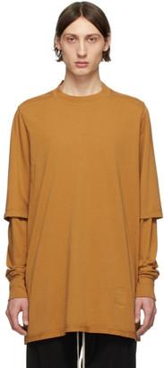 Rick Owens Tan Hustler T-Shirt