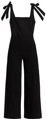 Alice + Olivia Jeans Kinley Tie-Shoulder Gaucho Jumpsuit