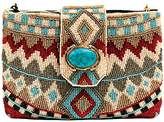 Mary Frances Turquoise Power Mini Clutch