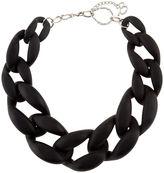 Diana Broussard Black Plexiglass Nate Chain Necklace