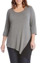 Karen Kane Plus Size Women's Colorblock Angle Top