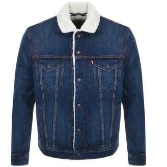 Levi's Levis Denim Sherpa Trucker Jacket Blue
