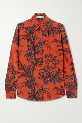 Bella Freud Little Prince Printed Silk Crepe De Chine Blouse - Red