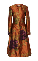 Brock Collection Carine Floral Jacquard Coat