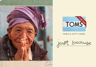 Toms 25 eGift Card