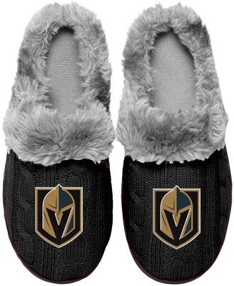 Women's Vegas Golden Knights Cable Knit Slide Slippers