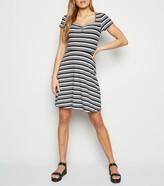 New Look Stripe Jersey Skater Dress
