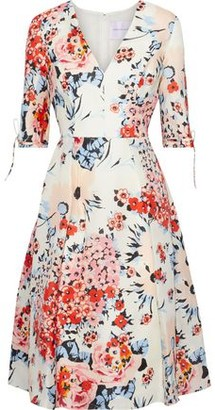 Carolina Herrera Floral-print Silk-gazar Dress