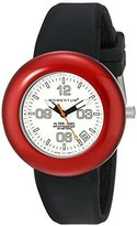 Momentum Women's 1M-SP99WD1B Alter Ego Red Bezel White Dial Black Band Watch