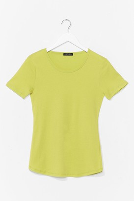 Nasty Gal Womens How We Tee It Relaxed Tee - Lime