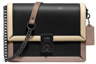 Coach Leather Hutton Cross-Body Bag