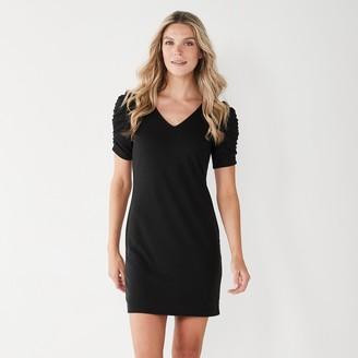 Nine West Women's Puff-Sleeve Sheath Dress