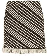 Sonia Rykiel Diagonal-stripe mini skirt