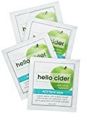 Organic Apple Cider Vinegar Acne Wipes - Tea Tree+Rose+Chamomile+Geranium Hydrosols. Clear Acne, Blemishes, Blackheads. Toner, Cleanser, Moisturizer 25 Wipes by Hello Cider