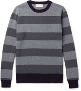 Officine Generale Striped Merino Wool and Cashmere-Blend Sweater