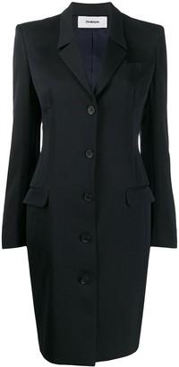 Chalayan Corset Single Breasted Coat