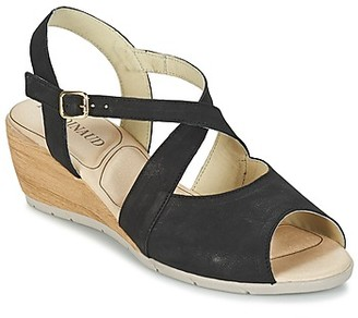 Rondinaud MENONGE women's Sandals in Black