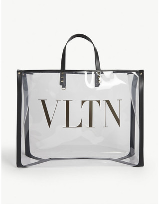 Valentino Grand Plage large transparent tote bag
