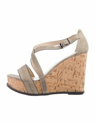 Fabiana Filippi Suede Studded Accents Sandals Grey