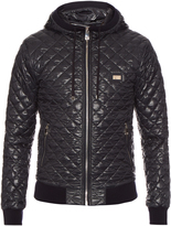 Dolce & Gabbana Quilted hooded bomber jacket