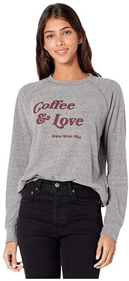 good hYOUman Roselynn Coffee and Love Pullover (Heather) Women's Clothing