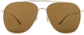 Oliver Peoples x The Row Ellerston Sunglasses in Gold & True Brown Polar | FWRD