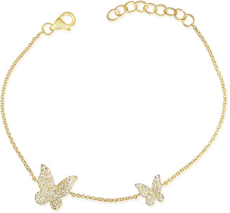 Sabrina Designs 14K 0.35 Ct. Tw. Diamond Butterfly Bracelet