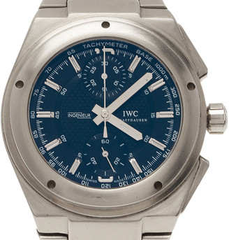IWC Blue Stainless Steel Ingenieur Men's Wristwatch 45MM