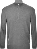 Ralph Lauren Half Zip Jumper Grey