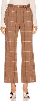 Acne Studios Patsyne Trouser in Brown & White | FWRD