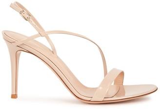 Gianvito Rossi Vernice 85 blush patent leather sandals