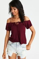 American Eagle Outfitters AE Soft & Sexy Off-The-Shoulder T-Shirt
