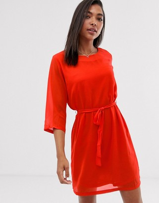 Only chiffon dress-Red