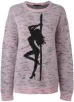 Alexander Wang oversized jaquard girl jumper