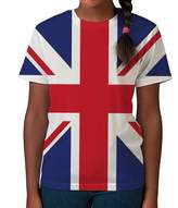 BANG TIDY CLOTHING Kids Graphic Tee Youth T Shirt Union Jack Flag Clothes for Girls
