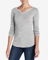 Eddie Bauer Women's Favorite Notch Neck Long-Sleeve T-Shirt
