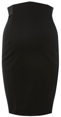 Dorothy Perkins Womens Maternity Black Ponte Pencil Skirt, Black