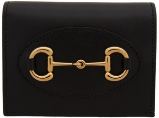 Gucci Black 1955 Horsebit Card Holder