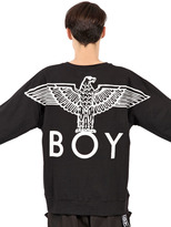 Boy London Boy Eagle Printed Cotton Sweatshirt