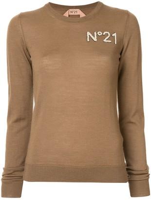 No.21 chest logo jumper