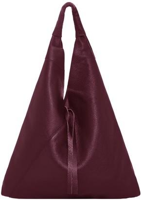 Sostter Maroon Pebbled Boho Leather Bag