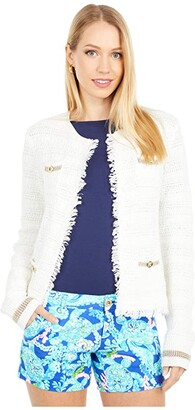 Lilly Pulitzer Beckington Cardigan (Coconut Gold Metallic) Women's Sweater